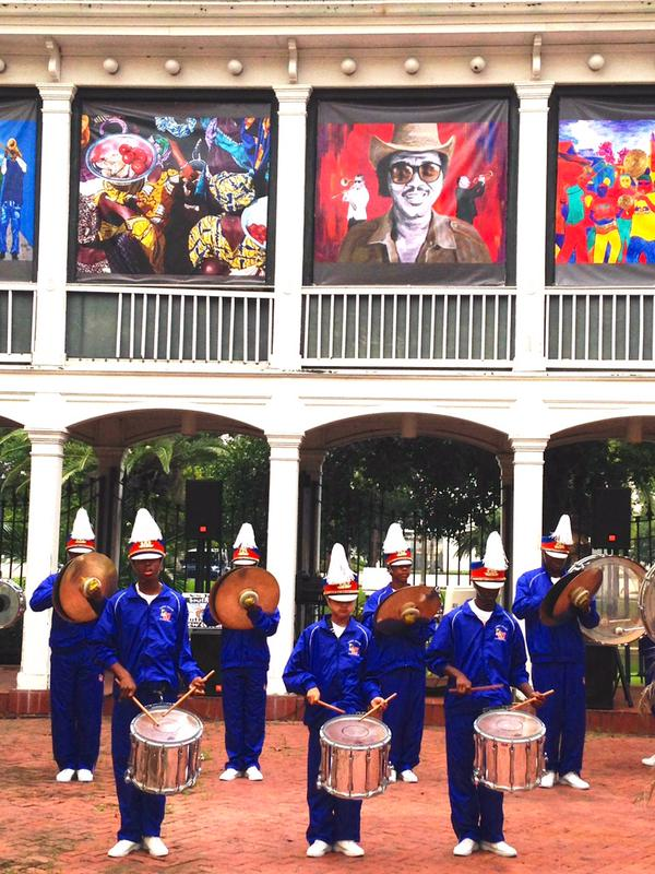 Landry Walker Drumline Performing at the International Arts Exhibition in New Orleans