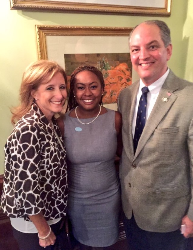 Networking with Governor John Bel Edwards & Mrs. Edwards