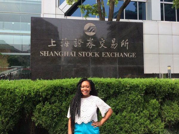 Touring the Shanghai Stock Exchange in China