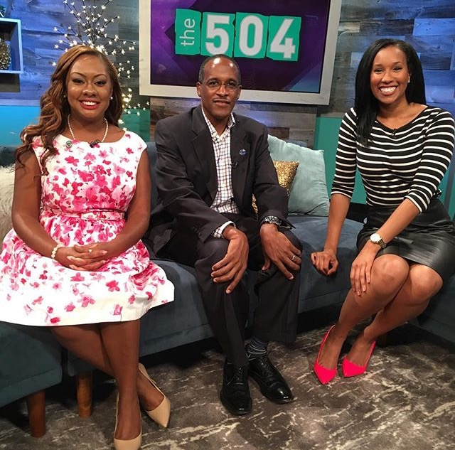 On Set on The 504 TV with host Sheba Turk & Dr. Walter Kimbrough, President of Dillard University