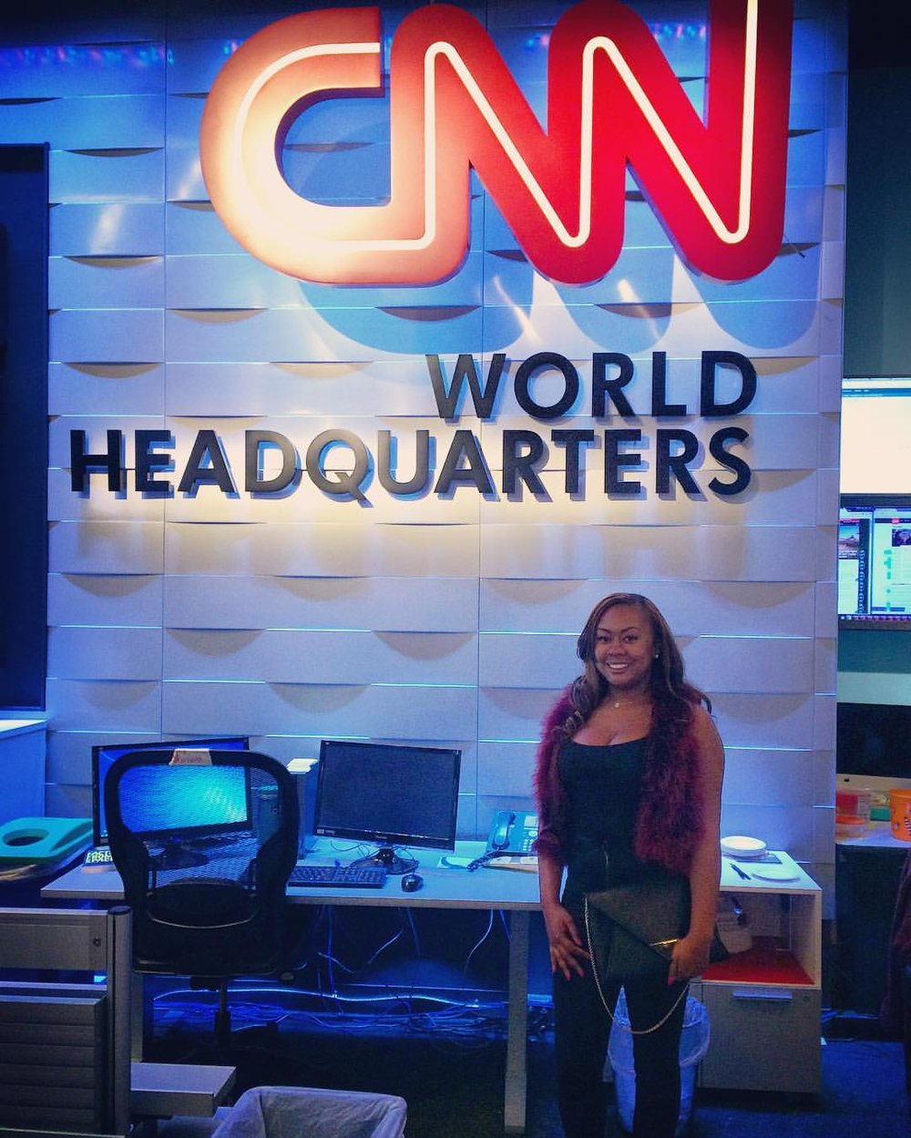 Touring CNN World Headquarters
