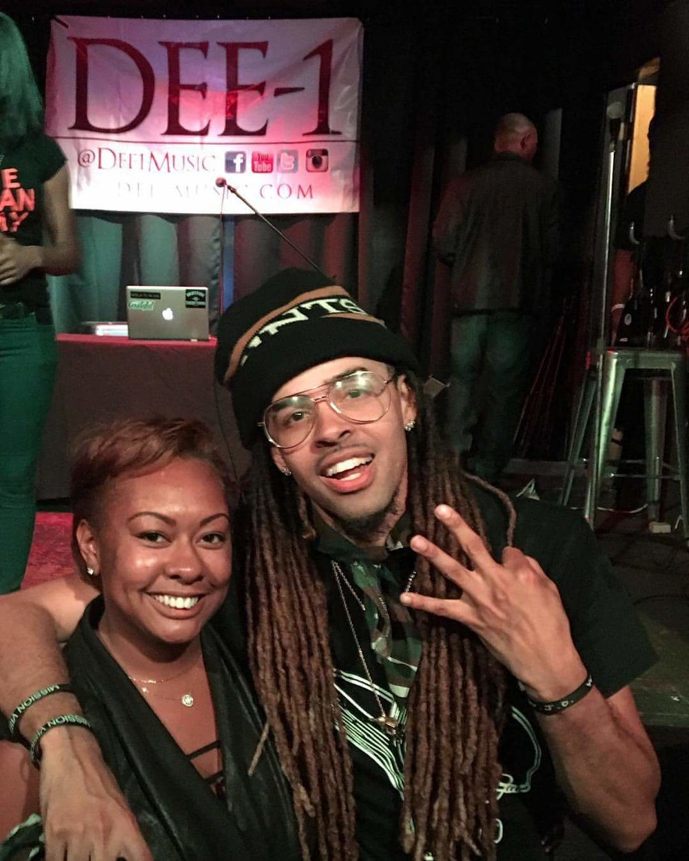 Dee-1 (Rapper & National Public Speaker)  & I after his show in New Orleans