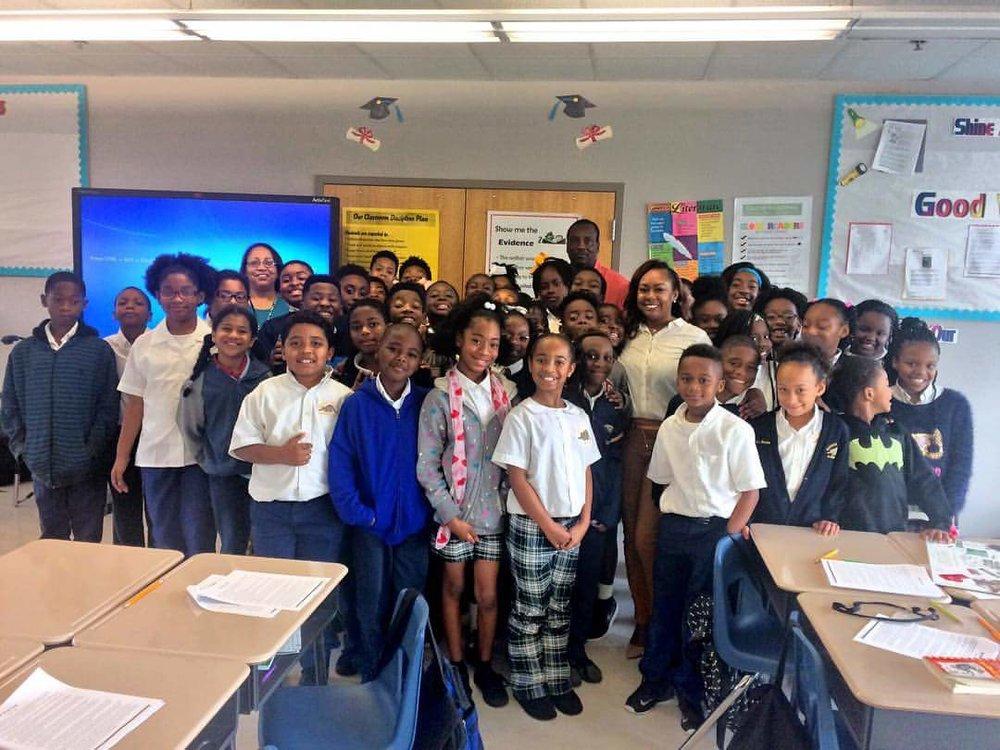 Guest Speaker at Mahalia Jackson Elementary
