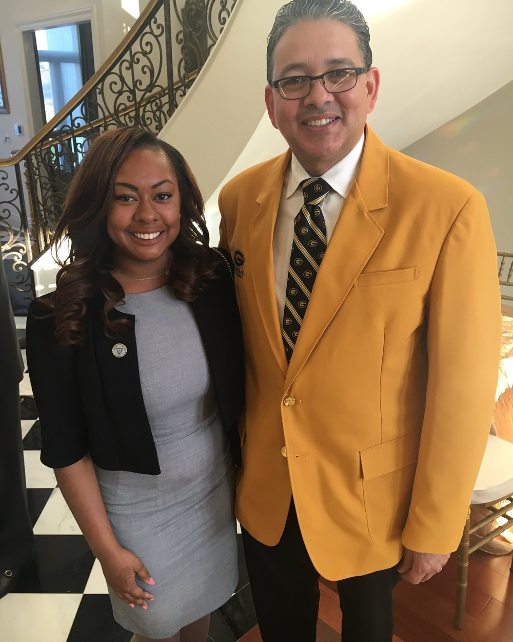 President of Grambling State University & I at GSU's Fundraiser in New Orleans