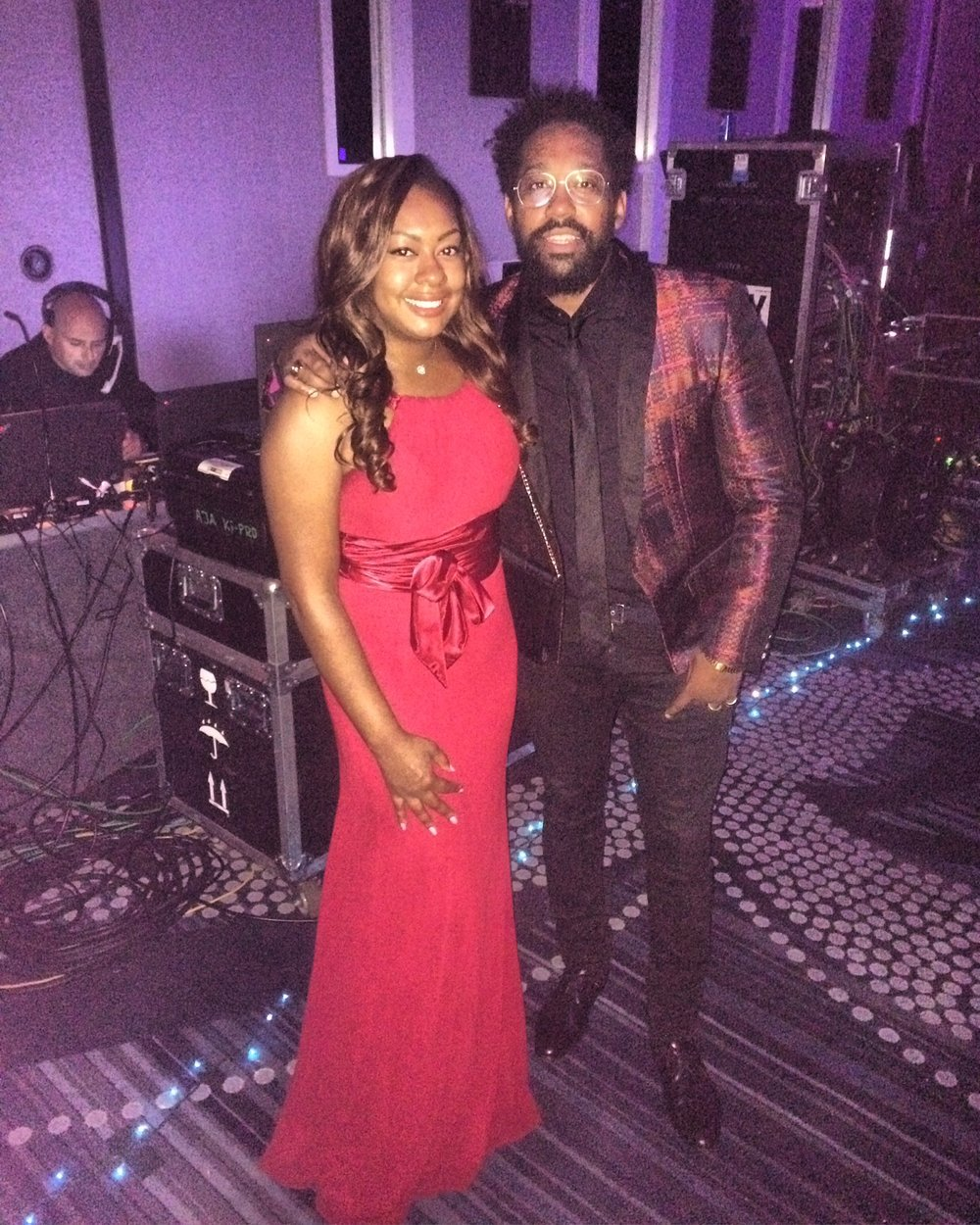 PJ Morton (Singer, Producer, Pianist for Maroon 5) & I backstage at UNCF's Mayor's Ball