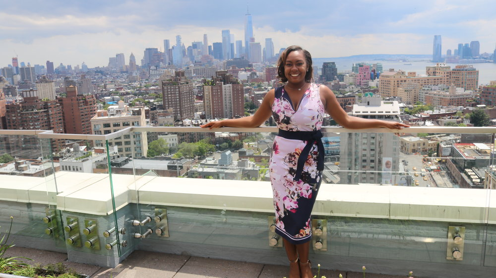 Standing on the Rooftop of Google NYC Headquarters after Speaking at Soledad O'Brien's Powherful Conference
