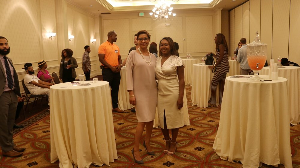 Mayoral Candidate Desiree Charbonnet & I at my Millennial Influencer Event