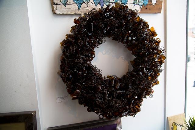 Glass Bottle Wreath