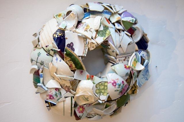 Broken China Wreath