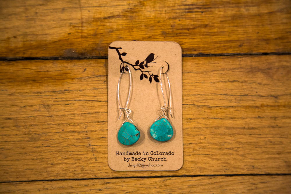 Large Turquoise Earrings