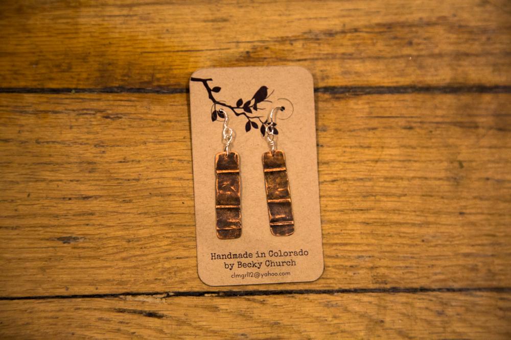 Rugged Copper Earrings