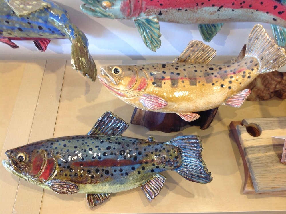 Trout Sculptures