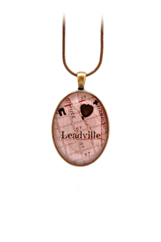 Leadville Map + Heart Necklace