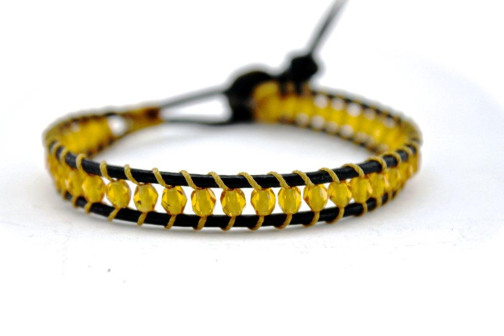 Leather + Bead Bracelet