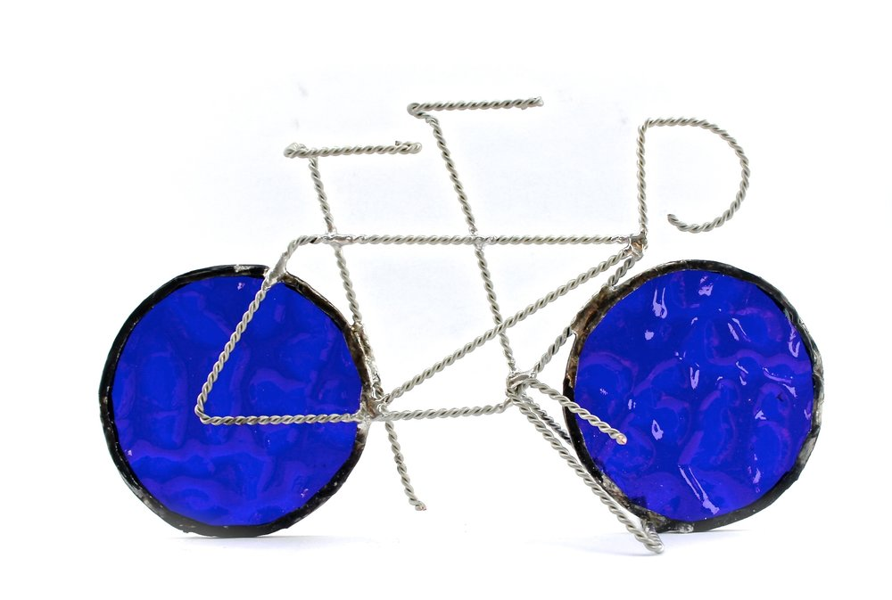 Tandem Bike Sculpture | Blue