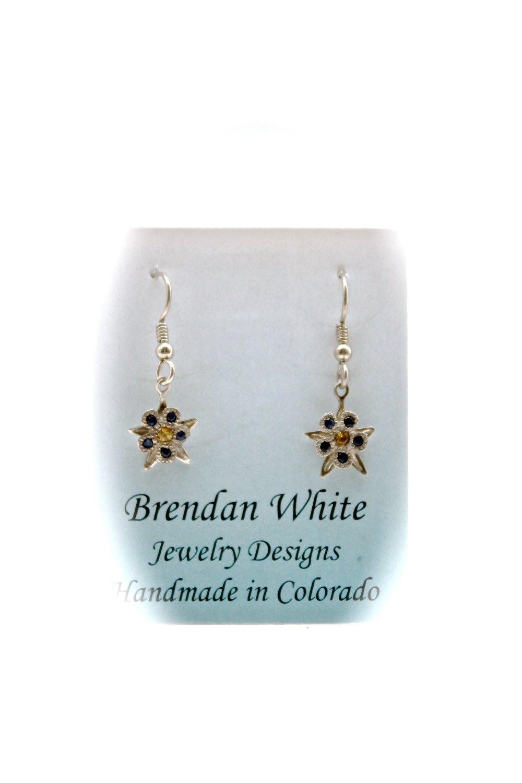 Columbine Earrings | Blue & Yellow Sapphire