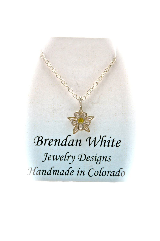 Columbine Necklace | Yellow Sapphire