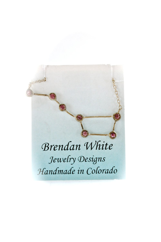 Big Dipper Necklace | Pink Sapphire
