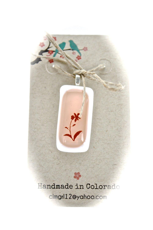 Flower Glass Pendant