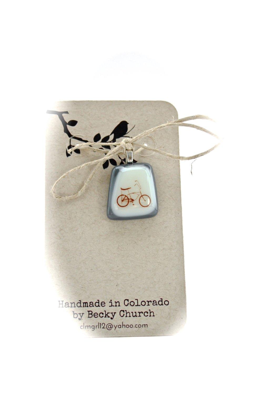 Bicycle Glass Pendant