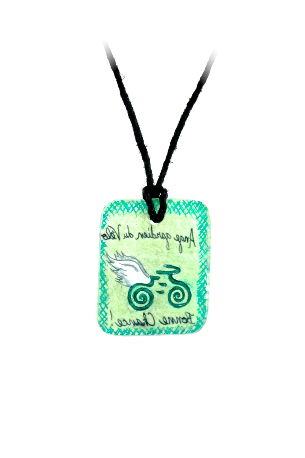 Guardian Angel Necklace | Green & Blue