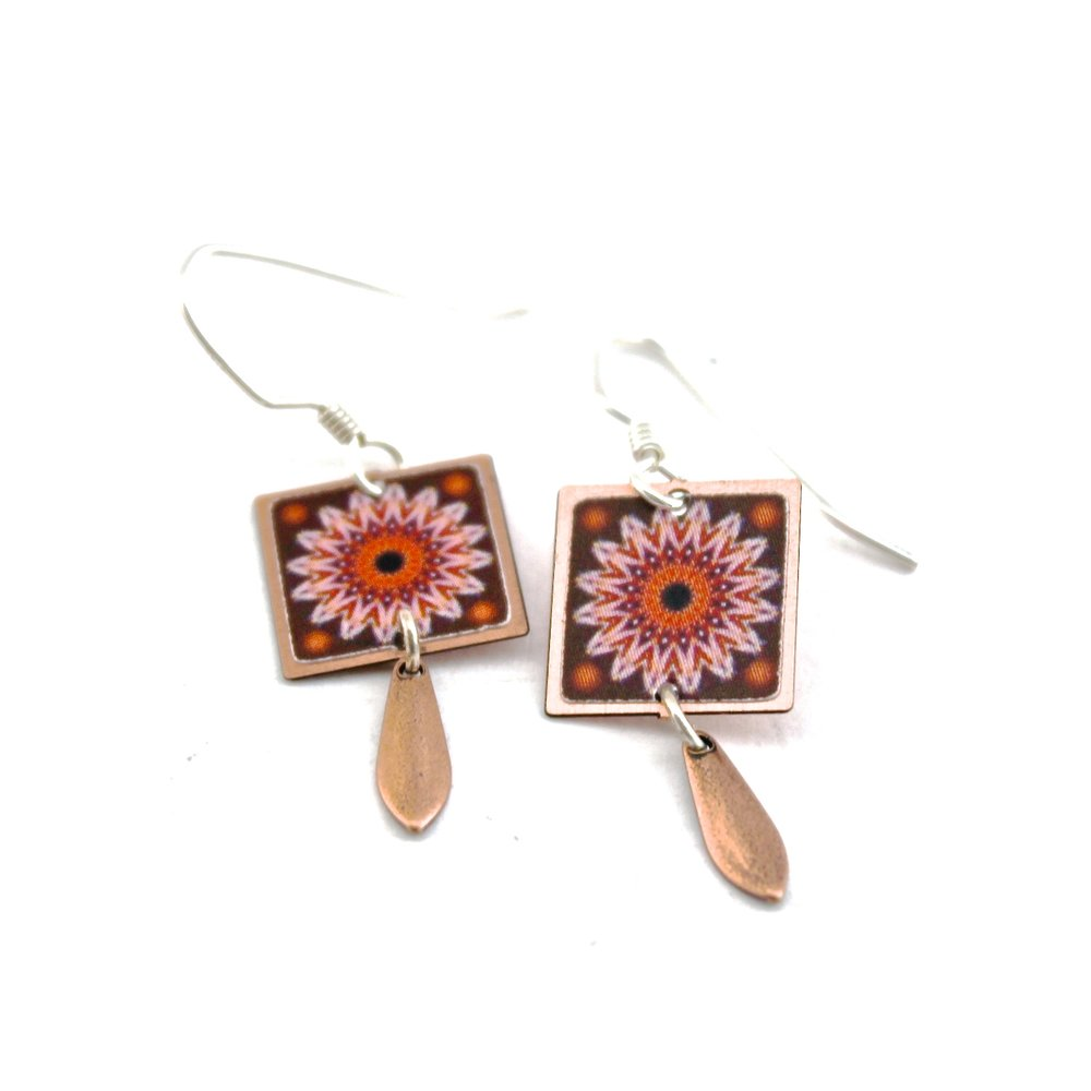 Flower Earrings | Pink