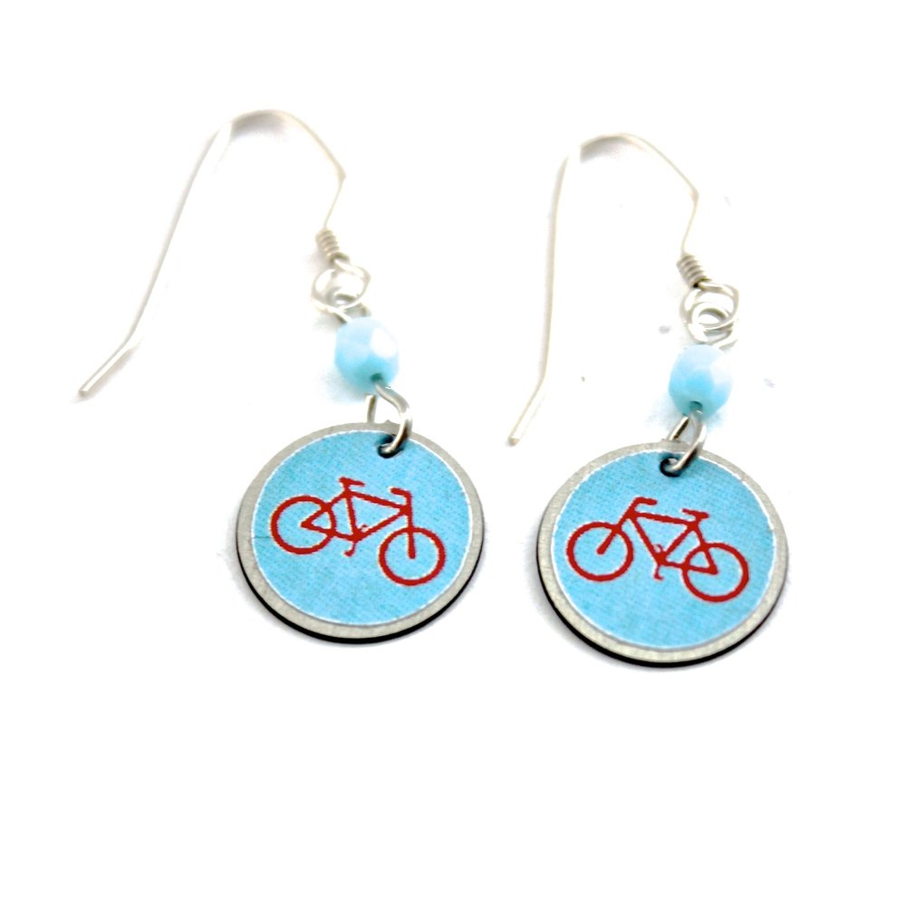 Bike Earrings | Blue