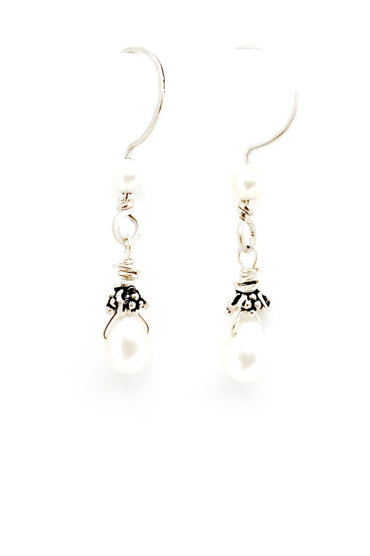 Sterling Silver + Pearl Earrings