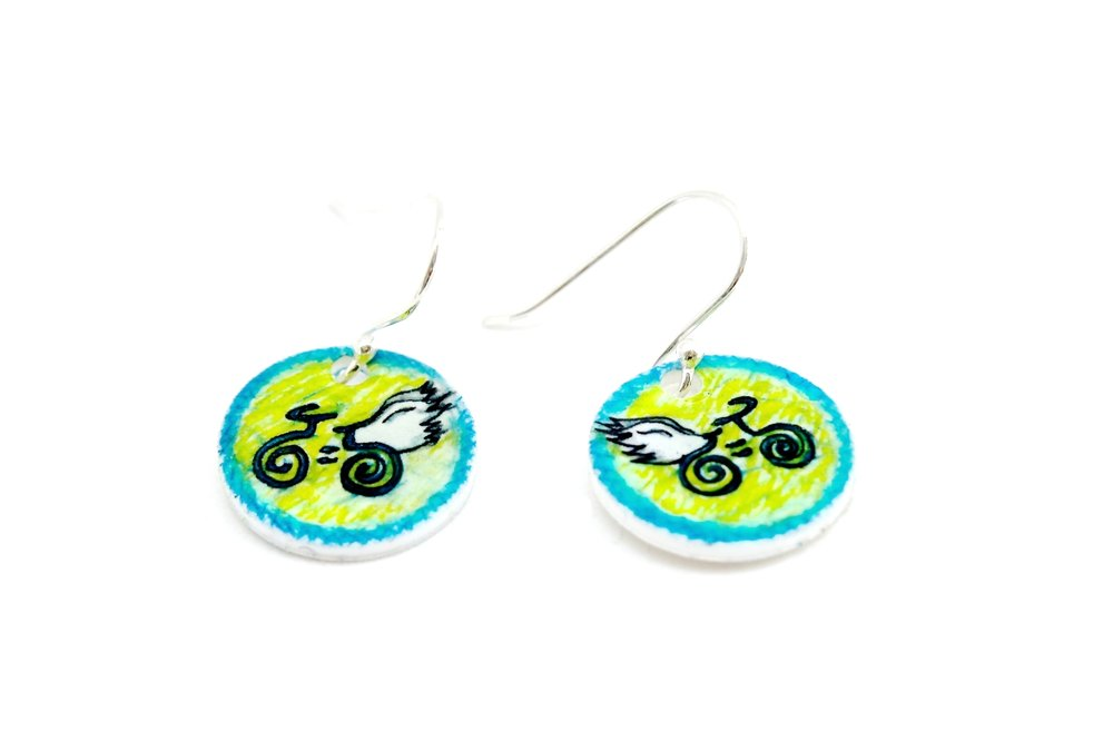 Guardian Angel Earrings | Blue & Green