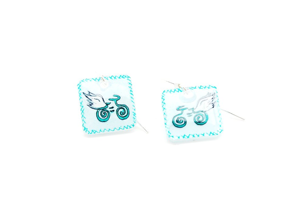 Guardian Angel Earrings | Light Blue