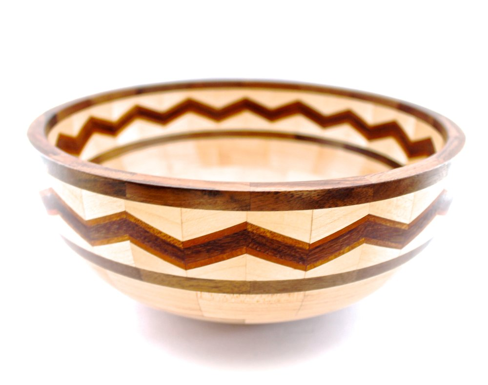 Chevron Salad Bowl