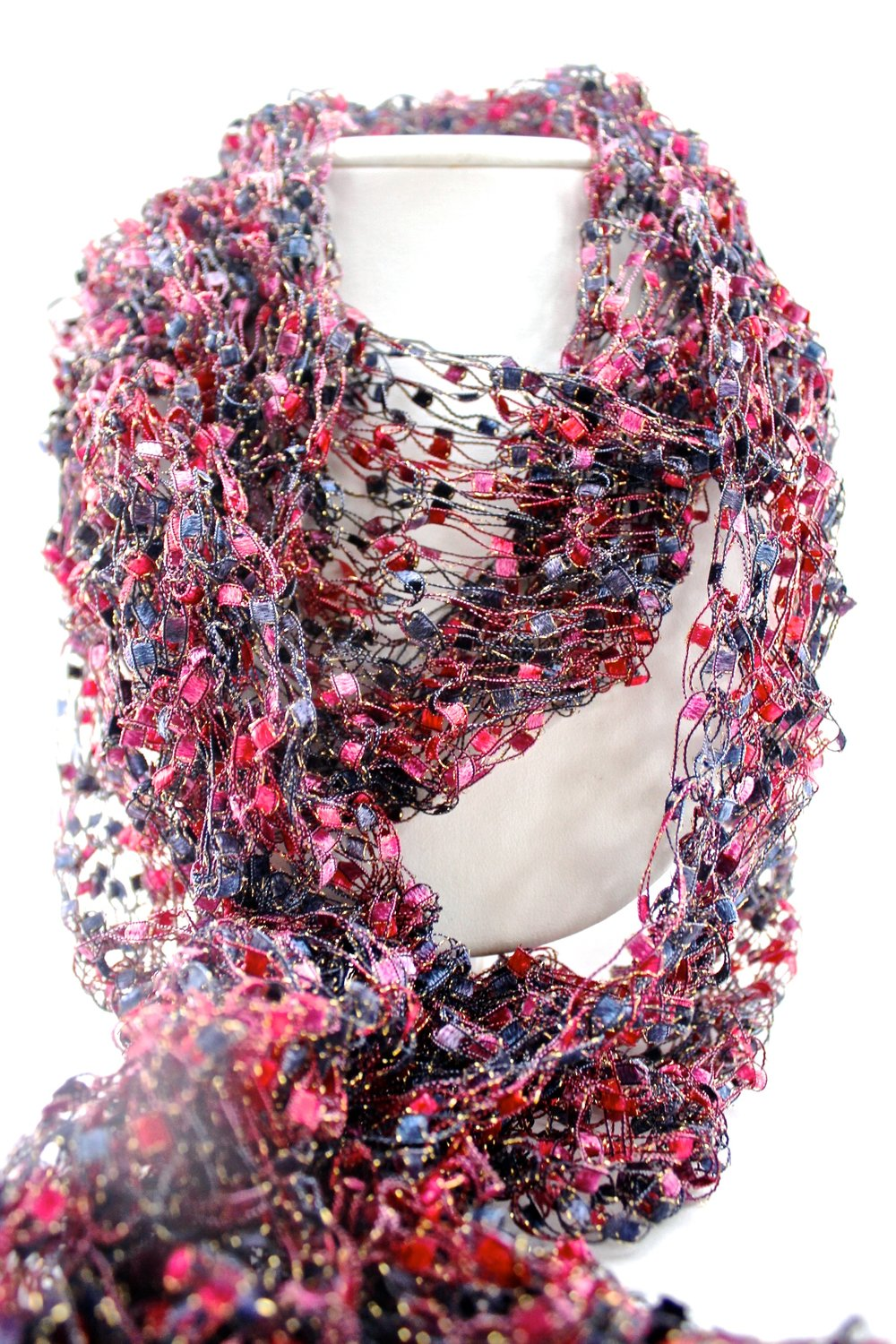 Pink Toned Knitted Scarf