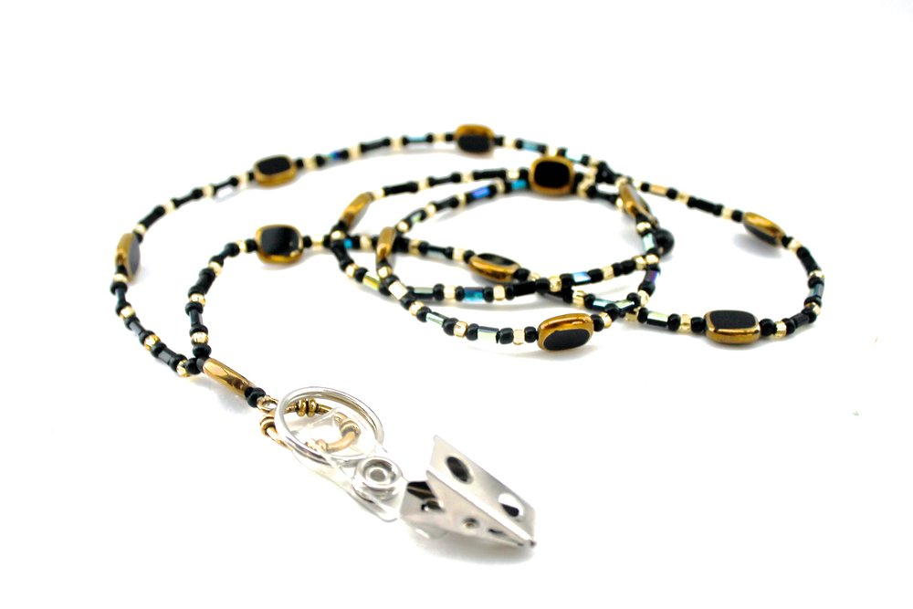 Beaded Lanyard | Gold