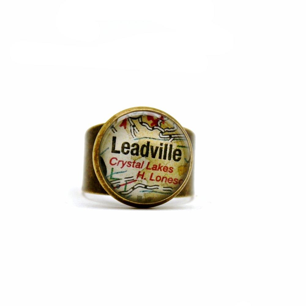 Leadville Map Ring