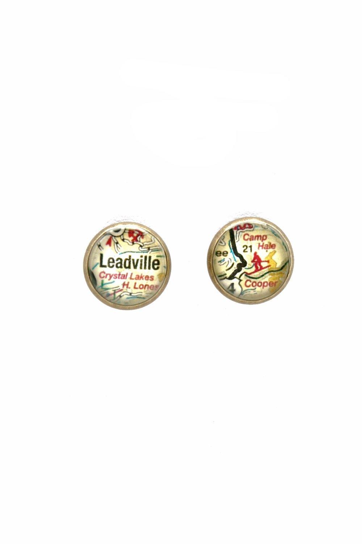 Leadville Map Earring | Posts