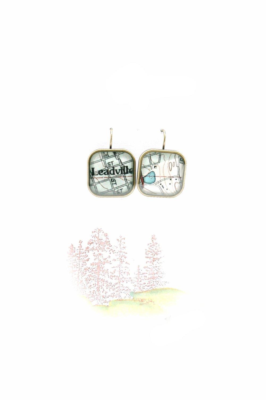 Leadville Map Earring | Dangle