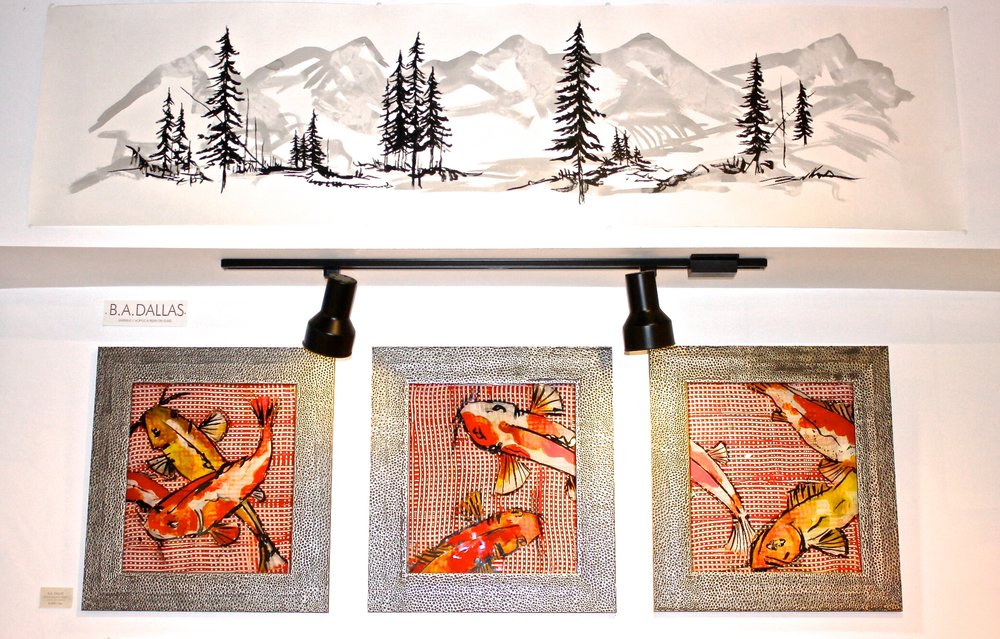Mt. Landscape | Alpine Series & Gingham Koi Series
