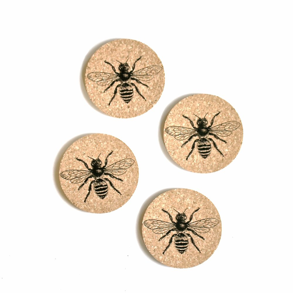 Bee Coasters-Set of Four