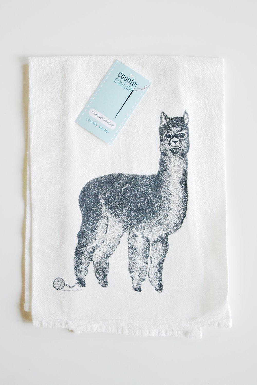 Alpaca Tea Towel