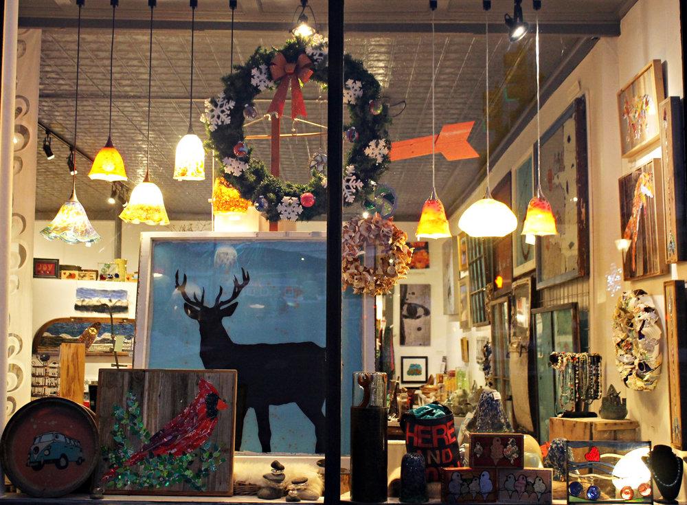 Deer Silhouette Window Display