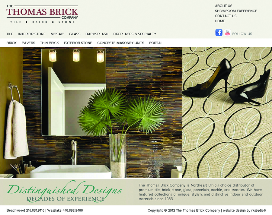 Thomas Brick Company website homepage