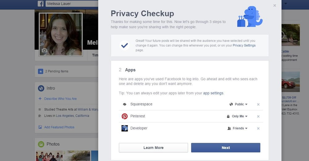 Facebook Privacy Step 4