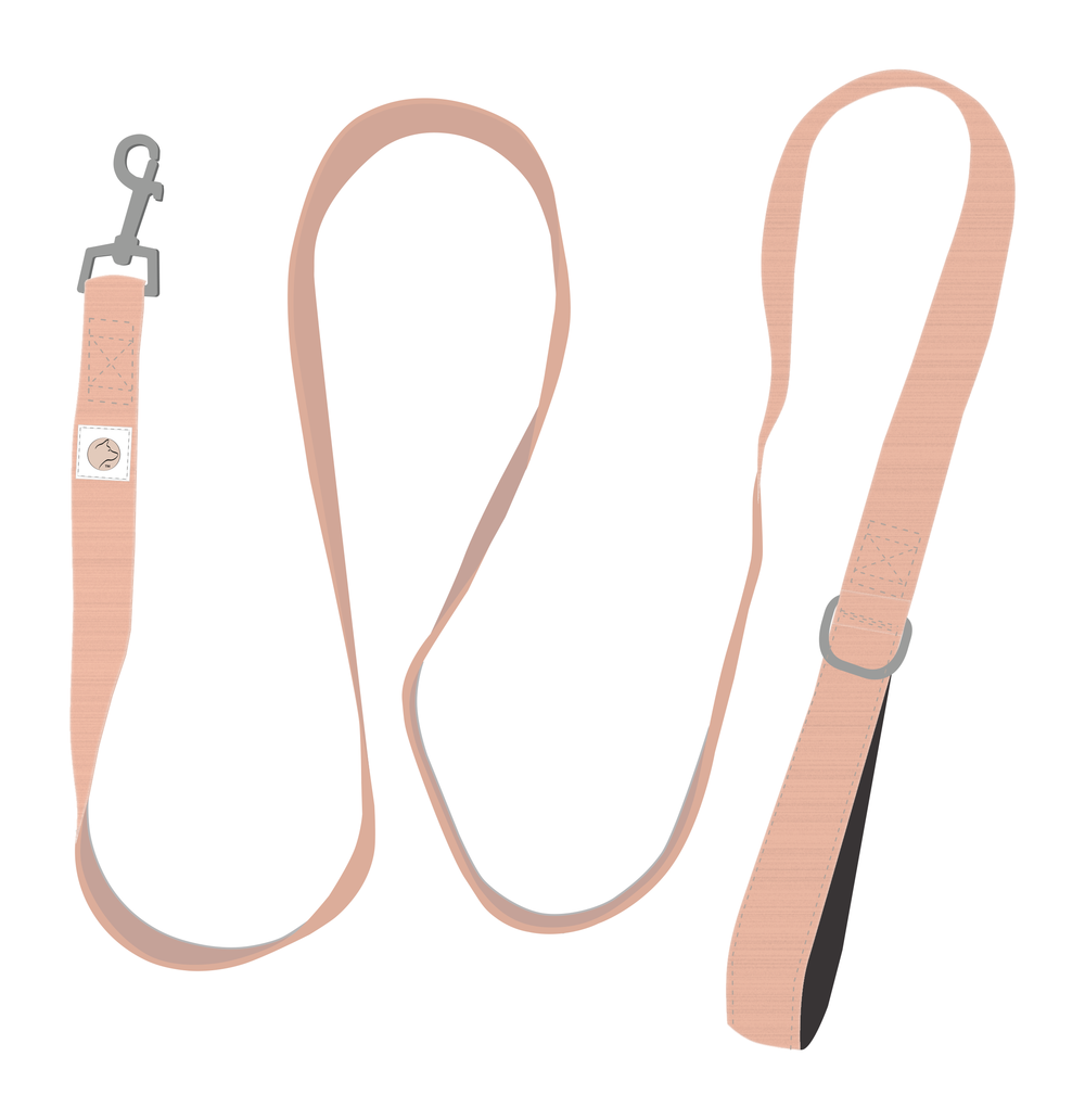 SINGLE HANDLE LEASH... - A modern update for your furry friend, this single handle leash is available in champagne and rose gold. It's lightweight and machine washable. 100% Polyester with a silky, smooth finish.