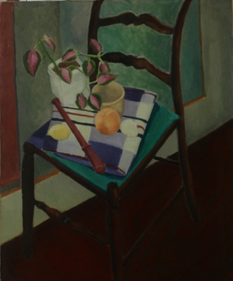 STILL LIFE WITH RECORDER. OIL ON CANVAS. 1972-73.