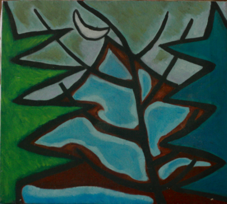 MAINE MOON. OIL ON CANVAS. 1980-83.