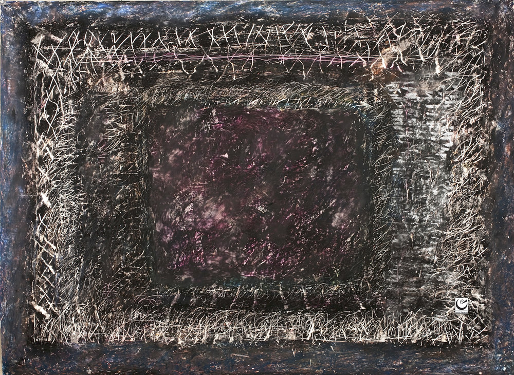 "Shoah Detail, Wax Crayon on paper, 22"" X 30"", 2013"