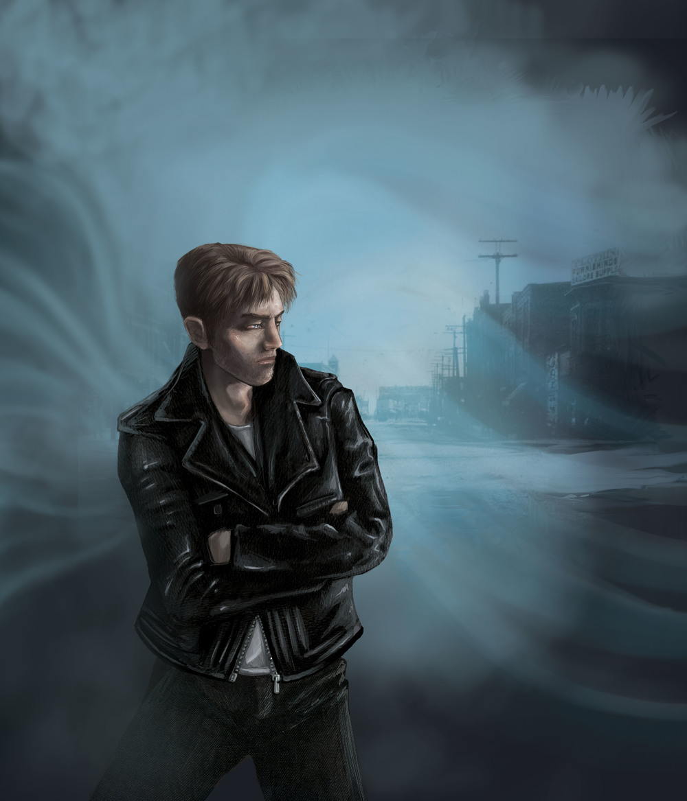 Concept sketch of Zachary Westland, central figure in the Shadowside series.