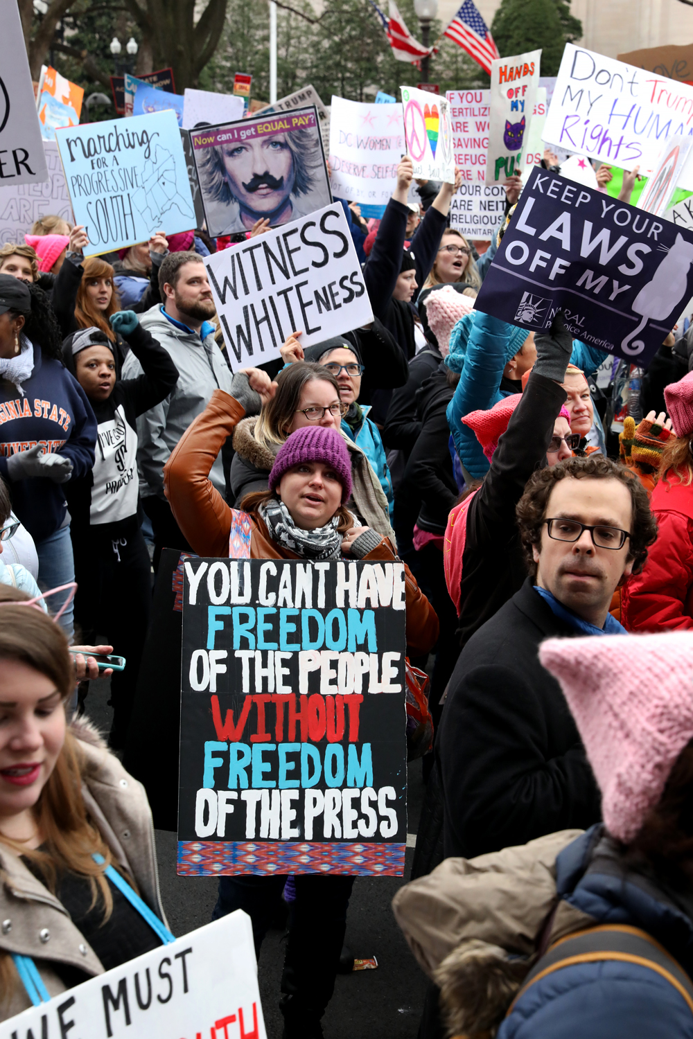 Freedom of the Press |  The Women's March | Washington, DC | January 21, 2017