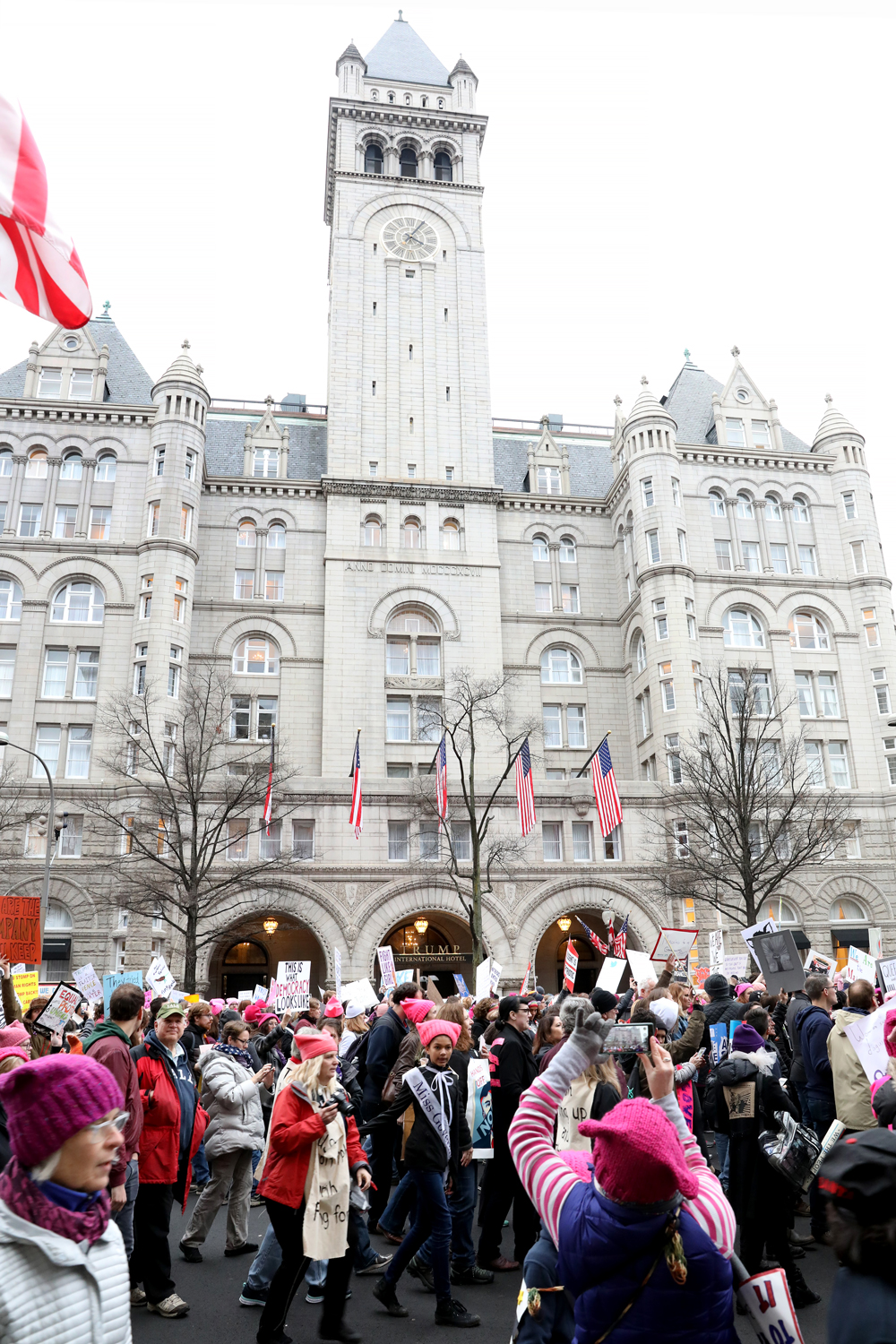 Pussyhats | Trump International Hotel |  The Women's March | Washington, DC | January 21, 2017