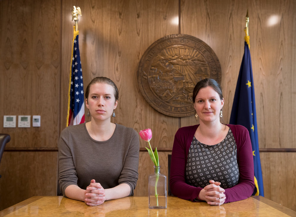 Bianca Carpeneti (left) and Tally Teal, Legislative Aides